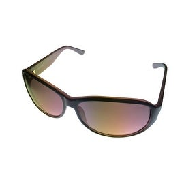 Ellen Tracy Womens Sunglass 506 3 Grey Violet Plastic Rectangle, Gradient Lens - Medium