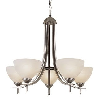 Trans Globe Lighting 8175 Five Light Up Lighting Chandelier from the Contemporary Collection