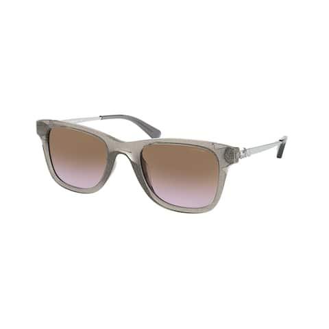 Coach HC8279U 556968 51 Transparent Gray Glitter Woman Rectangle Sunglasses