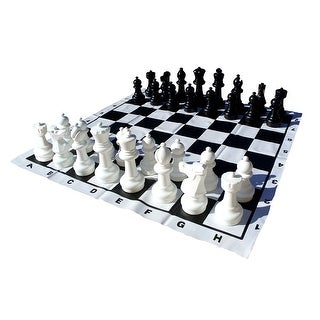 12 Inch King Garden Chess Set - Multicolored