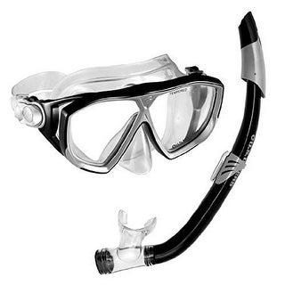 US Diver Unisex Na Pali Snorkel w/Mask, Electric Blue, OS