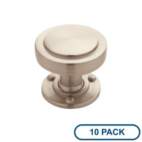 Amerock BP53710-10PACK Rochdale 1-1/4 Inch Diameter Mushroom Cabinet Knob - Package of 10