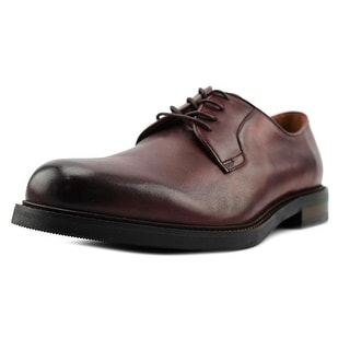 Aldo Leben Men  Round Toe Leather Burgundy Oxford