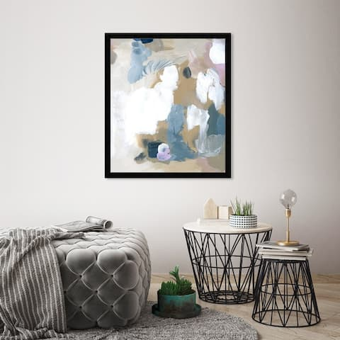 Oliver Gal 'Crem' Abstract Framed Wall Art Print