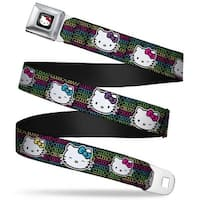 Hello Kitty W Red Bow Full Color Black Hello Kitty Expressions Black Pink Seatbelt Belt