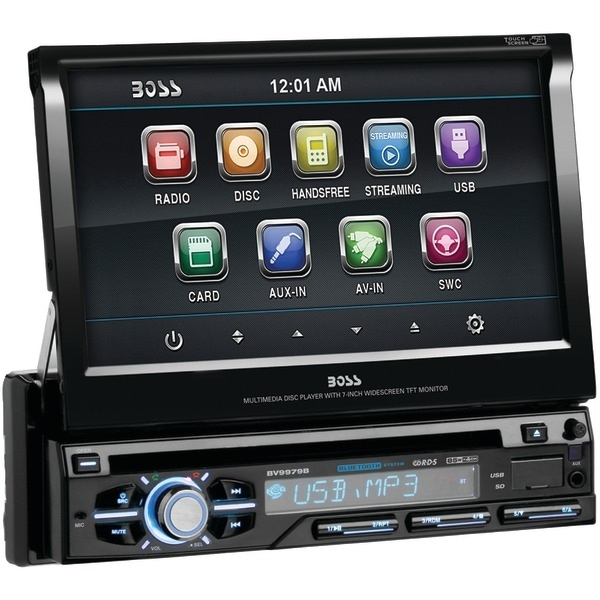 "BOSS AUDIO BV9979B 7"" Single-DIN In-Dash Flip-up DVD/MP3/CD & AM/FM Receiver with Bluetooth(R)"