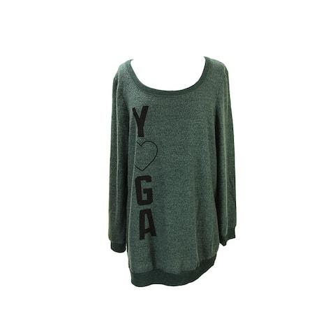 Dreamr Green Long-Sleeve Printed Fleece Sweatshirt S