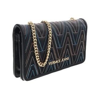 Versace EE3VRBPY4 Black/Multicolor Wallet on Chain - 7.5-4.5-1