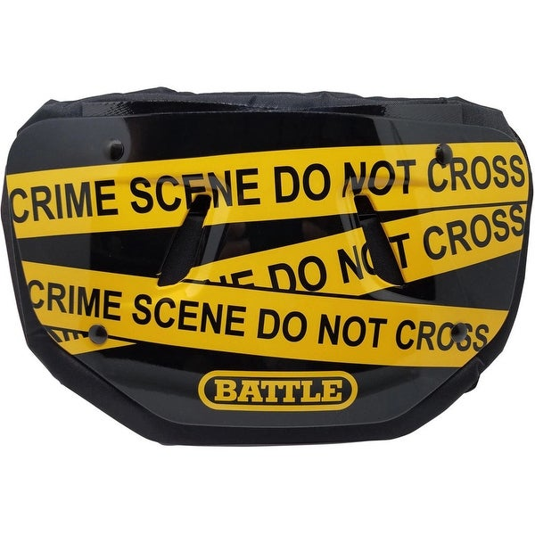 Battle Sports Science Crime Scene Adult Chrome Football Back Plate - One Size
