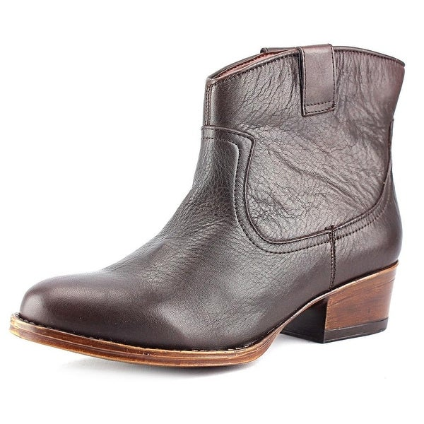 Kenneth Cole Reaction Hot Step Women Round Toe Leather Brown Bootie