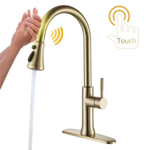 Automatic Pull Down Touch Single Handle Kitchen Faucet