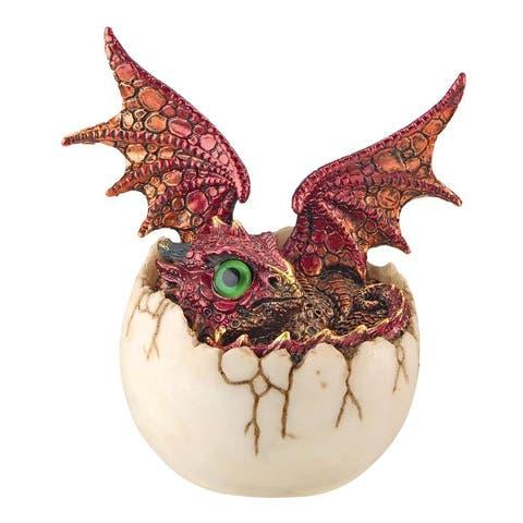 Design Toscano Eggshell Spore Dragon Hatchling Statue