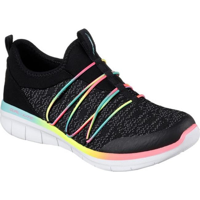 7a2afd53d239 Shop Skechers Women s Synergy 2.0 Simply Chic Slip-On Sneaker Black Multi -  Free Shipping Today - Overstock - 17122331