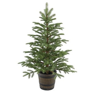 4' Potted Norwegian Spruce Entrance Artificial Christmas Tree – Unlit - 4 Foot
