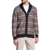Loft Mens Medium Cardigan Striped Shawl Sweater