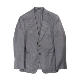Tom Ford Mens Grey Silk Blend Cashmere Sport Jacket - 40r