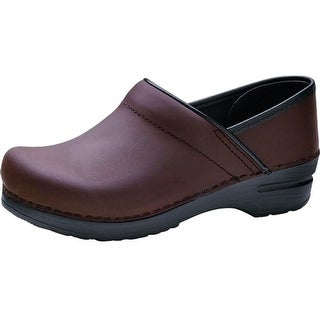 Dansko Shoes Womens Clogs Professional Leather Brown Black
