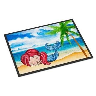 Carolines Treasures BB8513MAT Mermaid on the Beach Indoor or Outdoor Mat - 18 x 27 in.
