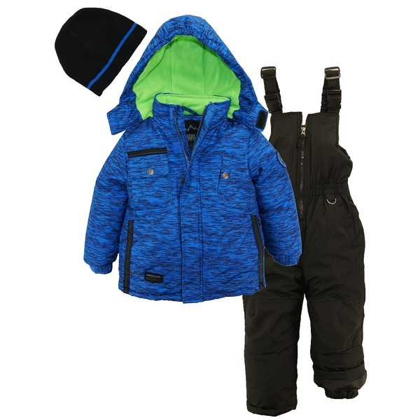 22fe3635e Ixtreme Toddler Boys Colorblock Heavy Snowsuit Winter Ski Jacket Bib Bonus  Hat