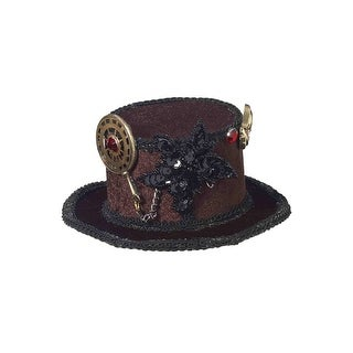 Forum Novelties Mini Steampunk Hat - Brown