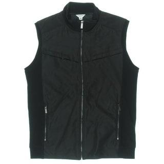 Calvin Klein Mens Mixed Media Zipper Vest - M