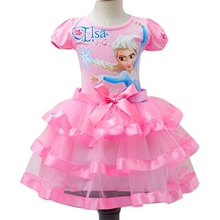 Eyekepper Little Girl's Elsa Printed Tutu Dresses