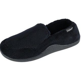 Isotoner Men's Microterry Memory Foam Indoor/Outdoor Slip-On Slippers