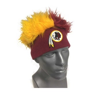 Washington Redskins Knit Beanie with Two-Tone Fuzzy Hair