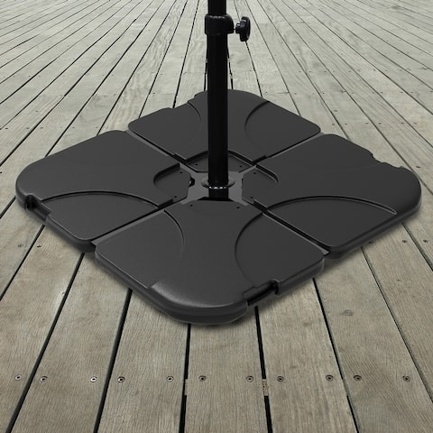 4-pc. Fillable Weighted Cantilever Offset Umbrella Base by Pure Garden