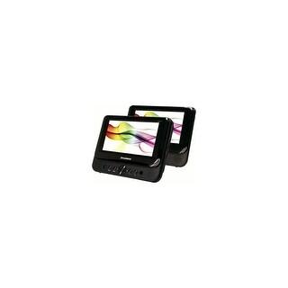 Sylvania SDVD8716 7'' Dual Screen Portable DVD Player Black Manufacturer Refurbished