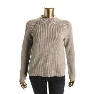 Lauren Ralph Lauren Womens Wool Raglan Sleeves Mock Turtleneck Sweater - XL