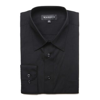 Link to Marquis Men's Long Sleeve Regular Fit Big & Tall Size Dress Shirt Similar Items in Shirts