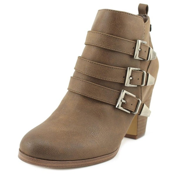 Crown Vintage Kallee Women Round Toe Leather Brown Bootie