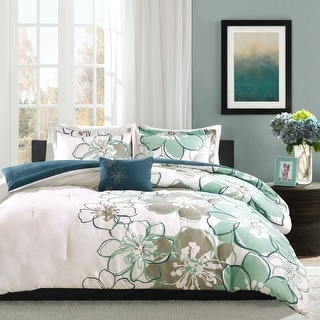 Link to Skylar Blue/ Grey Printed Comforter Set by Mi Zone Similar Items in Duvet Covers & Sets