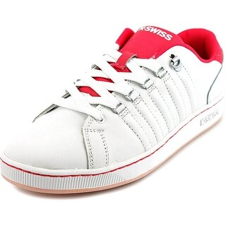 K-Swiss Lozan Youth Round Toe Leather White Sneakers