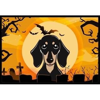 Carolines Treasures BB1773JMAT Halloween Smooth Black And Tan Dachshund Indoor & Outdoor Mat 24 x 36 in.