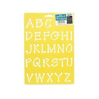 Delta Stencil Mania 7x10 Alphabet Whimsical Dot