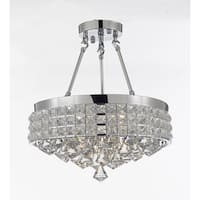 Semi Flush Mount French Empire Crystal Chandelier Chrome