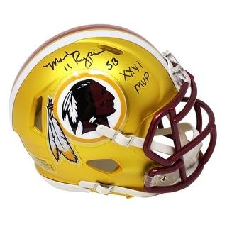 Mark Rypien Washington Redskins Blaze Riddell Speed Mini Helmet WSB XXVI MVP