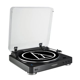 AudioTechnica AT-LP60BK-BT Fully Automatic Wireless Belt-Drive Stereo Turntable