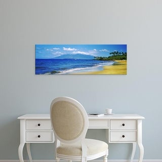 Easy Art Prints Panoramic Images's 'Surf on the beach, Kapalua Beach, Maui, Hawaii, USA' Premium Canvas Art