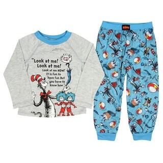 Dr. Seuss Pajamas Kids Toddlers' Two-Piece Cat in The Hat Pajama Pant Sleep Set