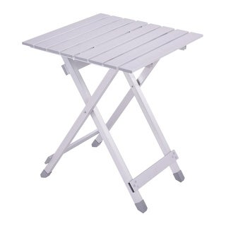 Costway Foldable Portable Table Roll Up Aluminum Alloy Picnic Outdoor Camping Ultralight