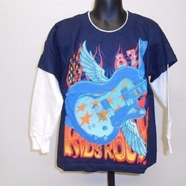 8ec971520 Shop Kids Rock Guitar Graphic Tee Kids Kid Size 4/5 T-Shirt 67Gr - Free  Shipping On Orders Over $45 - Overstock - 23030189