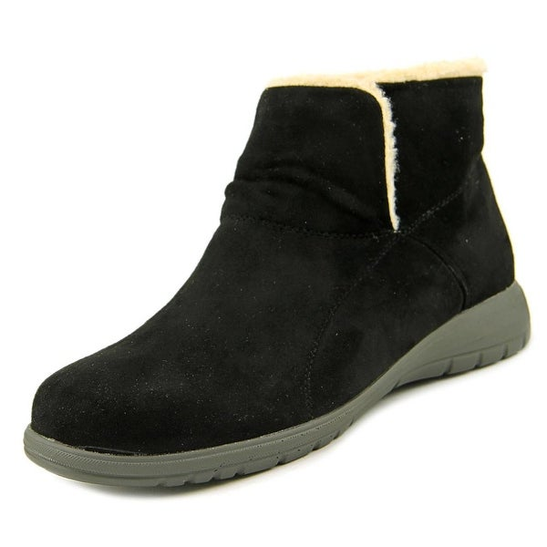 Beacon Whisper Women N/S Round Toe Synthetic Black Bootie