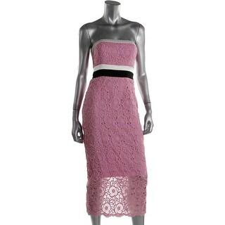 Cynthia Rowley Womens Silk Organza Cocktail Dress - 2