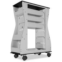 Hourglass 2-Sided Black Light Duty Cart - 24 x 31.5 x 11.25 in.