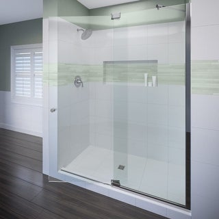 "Miseno MSDF4276 76"" High x 42"" Wide Hinged Frameless Shower Door with Clear Glass"