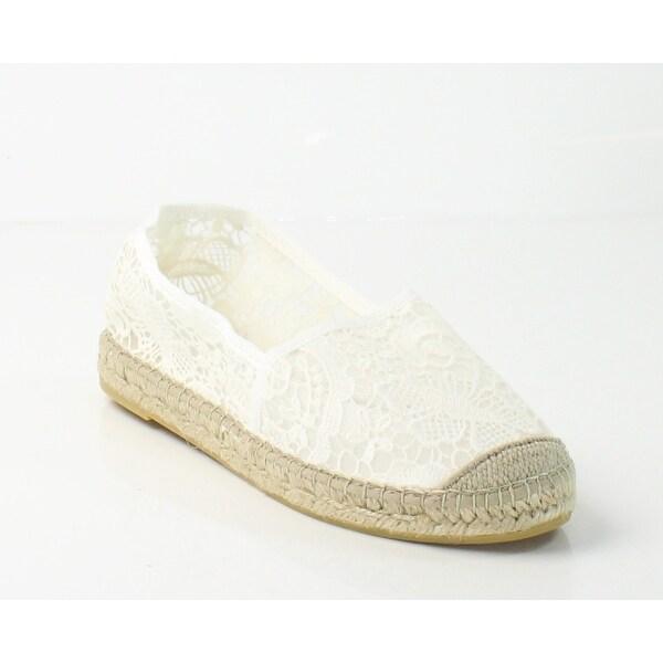 Vidorreta NEW White V-Lace Shoes Size 9M Slip Ons Espadrilles