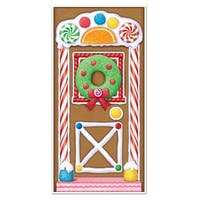 Club Pack of 12 Winter Wonderland Themed Gingerbread House Door Cover Party Decorations 5' - Multi